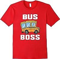 Funny Bus Boss School Bus Driver T-shirt Job Career Gift Red