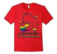 Mama Bear Lgbt Shirt Lgbt Gay Lesbian Rainbow Pride Tshirt Red