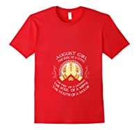 August Girl The Soul Of A Gypsy T Shirt August Girl Birthday T Shirt Red