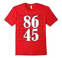 Impeach 45 Anti Trump 8645 Tshirt Red