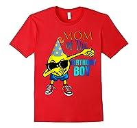 Cool Dancing Dabbing Emoji Mom Of Birthday Boy Party Shirts Red