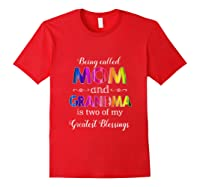 Being Called Mom And Grandma Tshirt Gift For Grandma Tank Top Red