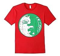 Area 51 Alien Cat Yin Yang Easy Lazy Kitten Halloween Gift Shirts Red