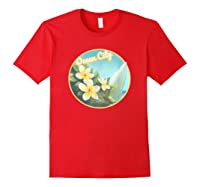 Ocean City Maryland Surfing Flower T Shirt Red