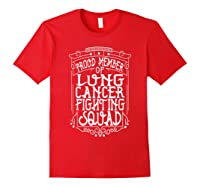 Fighting Squad Lung Cancer Awareness T-shirt Red