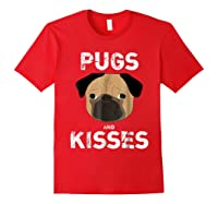 Pugs And Kisses Dog Animal Pet Funny Valentine S Day T Shirt Red