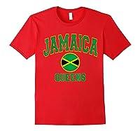 Ny Varsity Style N Flag Circle T Shirt Red