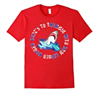 Shark Bow Legged Funny Shirt Red