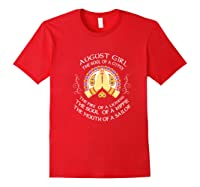 August Girl The Soul Of A Gypsy T Shirt August Girl Birthday Premium T Shirt Red