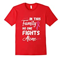 Family Support Breast Cancer Awareness Month Pink Ribbon Tee Tank Top Shirts Red
