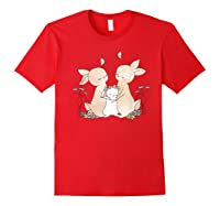 Family Rabbit Baby Bunny Sweet Family Shirt T Shirt Red