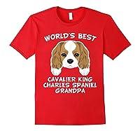 S World's Best Cavalier King Charles Spaniel Grandpa T-shirt Red