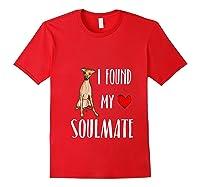 I Found My Soulmate Italian Greyhound Dog Lover Best Friend T-shirt Red