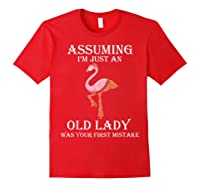 Assuming I'm Just An Old Lady Was Your First Mistake T-shirt Red