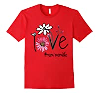 Mother S Day Gift Love Mom Mom Life Flower Tshirt Red