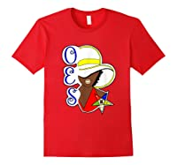 Masonic Store: Oes Order Of The Eastern Star Labor Day Gift T-shirt Red