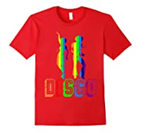 1970s Disco Dancers Vintage Rainbow 1970's Gift Shirts Red