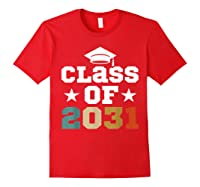 Vintage First Grade 2019 Class Of 2031 Apparel Grow With Me Shirts Red