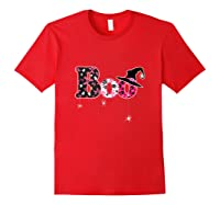 Halloween Boo Breast Cancer Awareness Month Tank Top Shirts Red