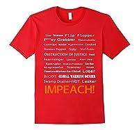 29 More Reasons To Impeach Potus Trump Political Activist T Shirt Red
