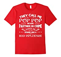 Funny Pop Pop Dad Shirt Valentine Fathers Day Christmas Gift Red