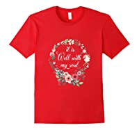 Inspirational It Is Well With My Soul T Shirts Faith Tees Tank Top Red