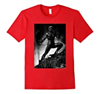 Black Panther Movie Shadow Cliff Stance Shirts Red