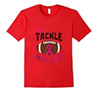 Breast Cancer Awareness Month Football Pink Ribbon Tank Top Shirts Red