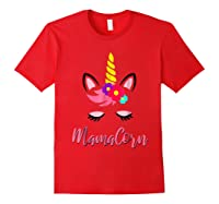 Mamacorn T Shirt Cute Funny Unicorn Gift For Mothers Day Mom Red