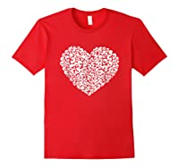 Heart Of Skulls Funny Valentine S Day T Shirt Red