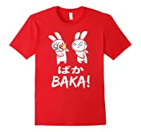 Anime Japanese Baka Rabbit Slap Manga T Shirt Gift Funny T Shirt Red