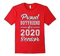 Proud Boyfriend Of 2020 Senior Graduation T-shirt For Family Red
