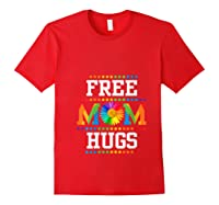 Free Mom Hugs Cute Flower Pride Lgbt Month 2019 Gift Shirts Red