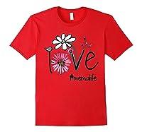 Mother S Day Gift Love Mema Life Flower Tshirt Red