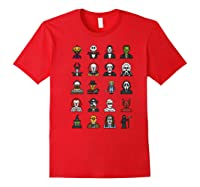 Friends Cartoon Halloween Character Scary Horror Movies Premium T Shirt Red