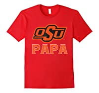 Oklahoma State Cow My Favorite Name - Papa T-shirt Red