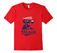 4th Of July American President Funny George Washington Shirts Red
