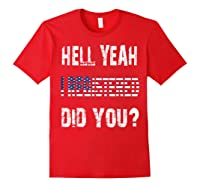 Registration Day Register To Vote Us Election Gift T Shirt Red