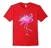 Funny Flamingo Breast Cancer Awareness October Ribbon Pink T Shirt Red