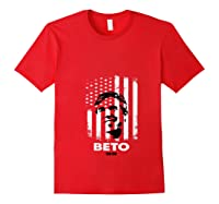 Beto O Rourke American Flag President Usa Distressed Gift T Shirt Red