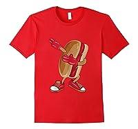 Dabbing Hot Dog Art Cool American Hot Dog Sandwich Gift Tank Top Shirts Red