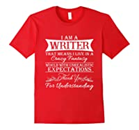 I M A Writer Gift For Authors Novelists Literature Shirt Red