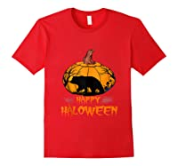 Bear Pumpkin Happy Halloween Costume Shirts Red