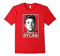 American Vandal Free Dylan Political Poster Premium T-shirt Red