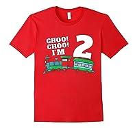 I'm Two Train 2nd Birthday Boy 2 Train Gift Shirts Red