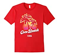 Coco Beach Florida City Native S Gift Shirts Red