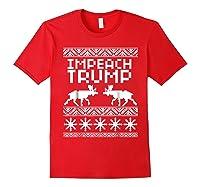 Impeach Trump Christmas T Shirt Anti Trump Holiday Wear Red
