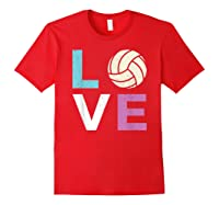 And A Volleyball Shirts Red