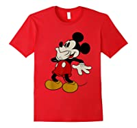 Disney Mickey Mouse Giggle T Shirt Red