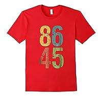 8645 T Shirt Impeach Trump Red